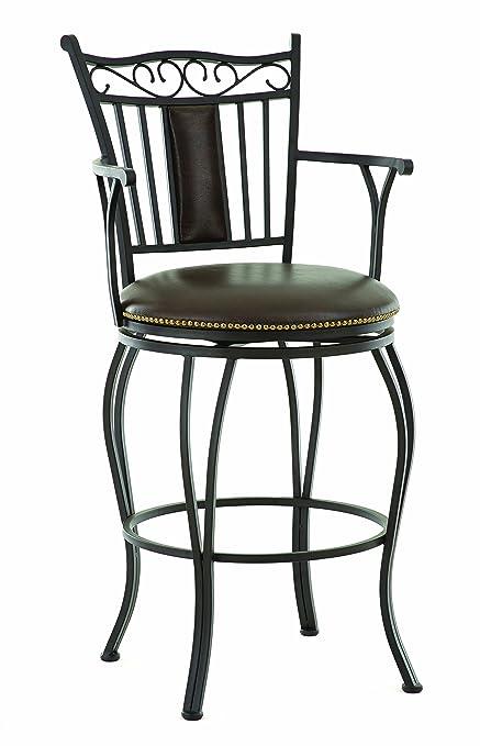 Amazoncom Steve Silver Company Barbara Jumbo Swivel Bar Chair With