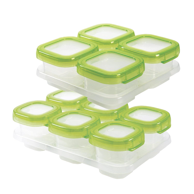 OXO Tot Babynahrung Gefrierschrank Tablett –  Weiß /Grü n 6106300
