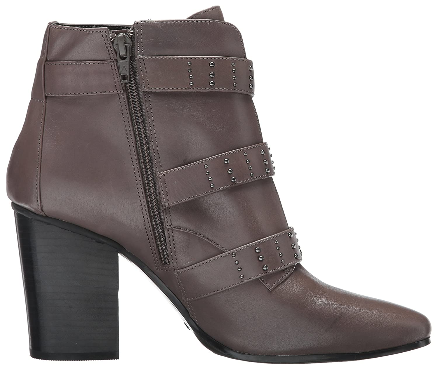 Aerosoles Women's Square Away Ankle Boot B06Y65NGT5 12 B(M) US|Grey Leather