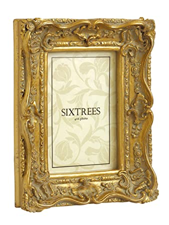Shabby Chic Style Very Ornate Gold Photo Frame for 6\