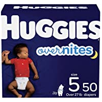 Nighttime Baby Diapers Size 5, 50 Ct, Huggies Overnites