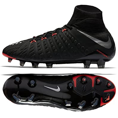 Nike Hypervenom Phantom III DF FG 860643-001 Black/Metallic Silver Men's Soccer  Cleats