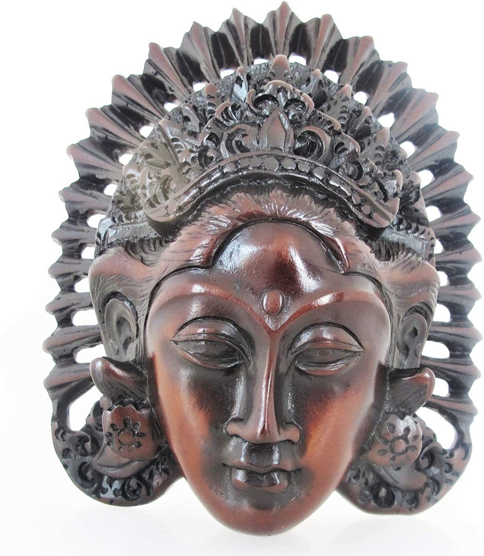 Land of Simple Treasures Tara Wall Mask - Buddhist Goddess Wall Hanging - Meditation Deity - Himalayan Art - Resin, 6 Inches