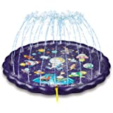 NextX Splash Pad, 68'' Sprinkle Play Mat, Sprinkler for Kids, Wading Pool for Learning, Outdoor Water Play Sprinklers…