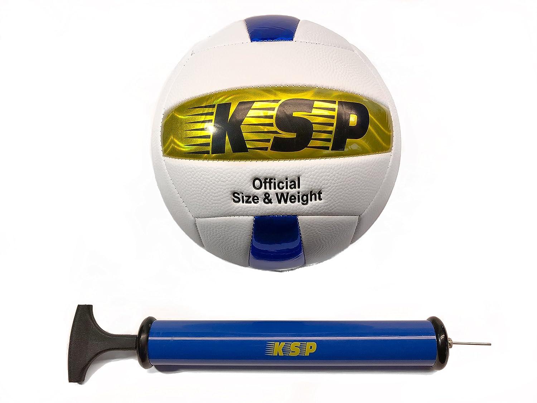 KSPインドア/アウトドアバレーボールwithポンプ B07CWJG1KC Blue and Gold
