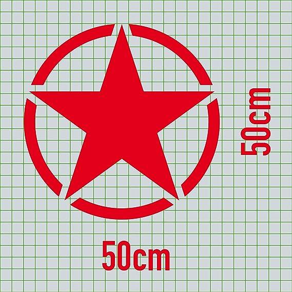 Greenit Us Stern 50cm Auto Jeep Heck Tür Aufkleber Tattoo Die Cut Car Decal Fahrzeugfolie Autoaufkleber Rot Auto