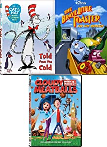 Chance of Cold Toasters Triple Cartoon Movie Disney Brave little Toaster to the Rescue / Cat in the Hat Told from the Cold Seuss + Cloudy with chance of Meatballs 3 Animated Adventures movie Features