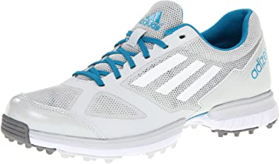 adidas Women's Adizero Sport Golf Shoe,Light Grey/Running White/Marine,9.5