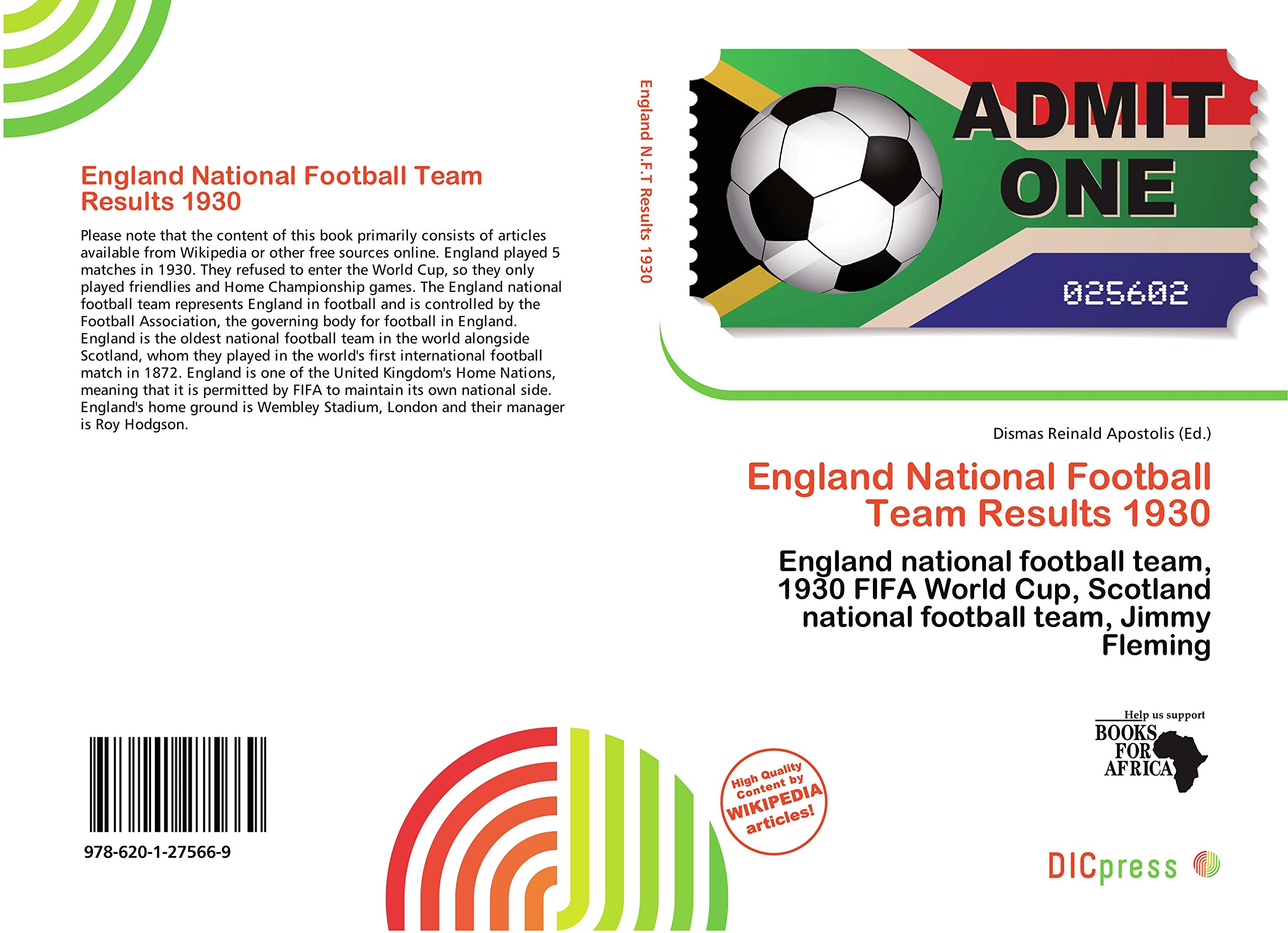 Amazon in: Buy England National Football Team Results 1930