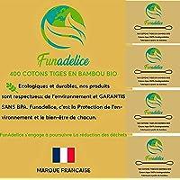 Funadelice 400 wattenstaafjes, biologisch afbreekbaar, biologisch bamboehout, oorsmeer van veganistische en oosterse…