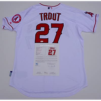 sports shoes f7ca3 2d6e2 Mike Trout Signed Jersey - Loa Y61771 - JSA Certified ...