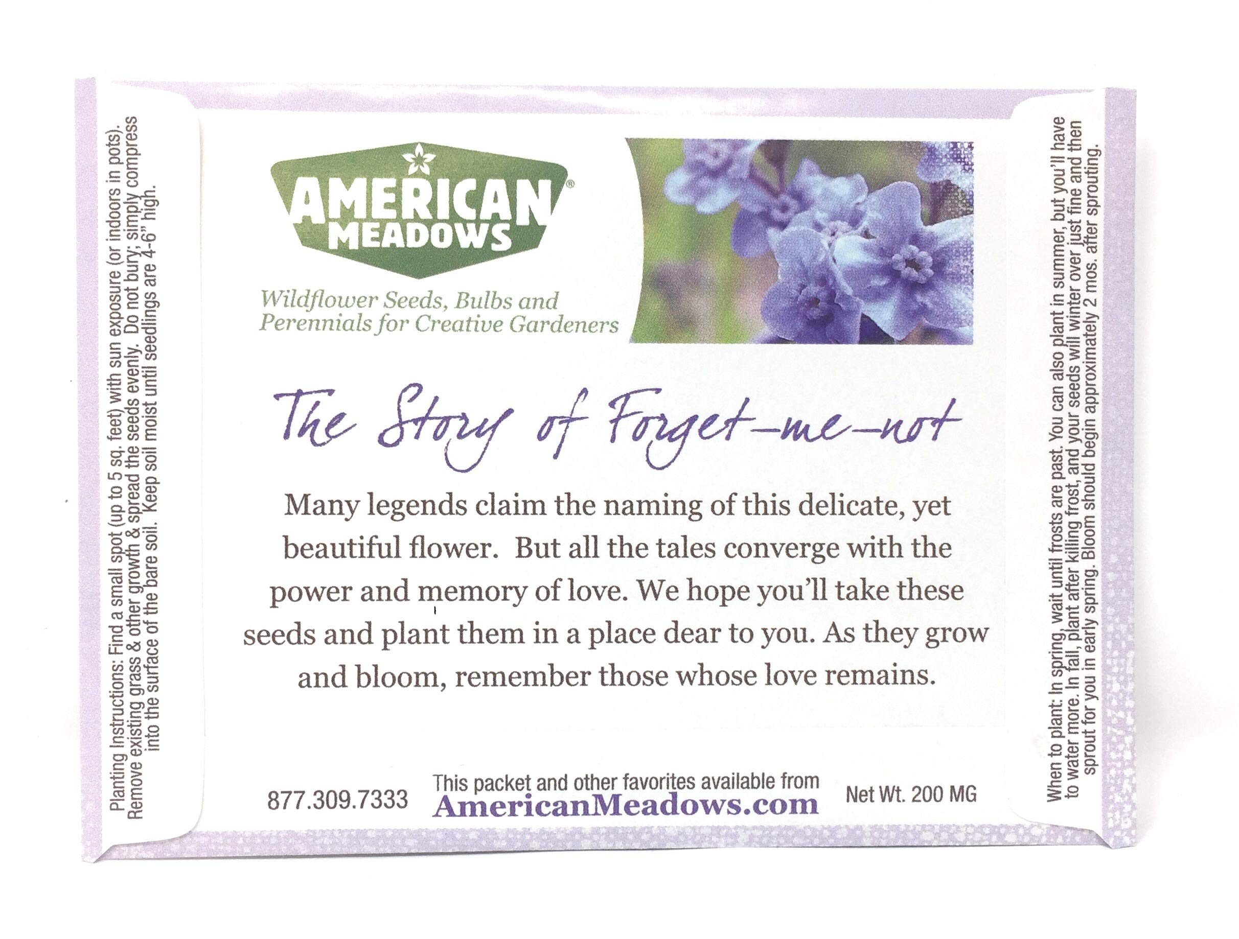 in Loving Remembrance - Individual Forget Me Not Flower Seed Packet Favors - Ready to Give - Pack of 20 by American Meadows (Image #2)