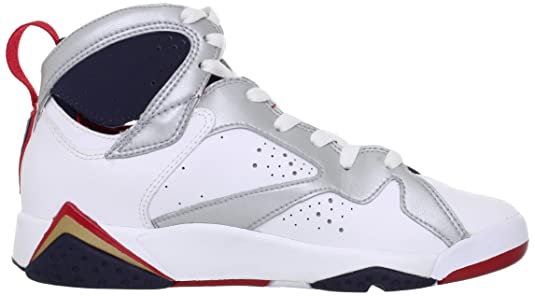 4308213f133c AIR JORDAN 7 RETRO (GS)  OLYMPIC 2012 RELEASE  - 304774-135 - SIZE 6.5   Amazon.co.uk  Shoes   Bags