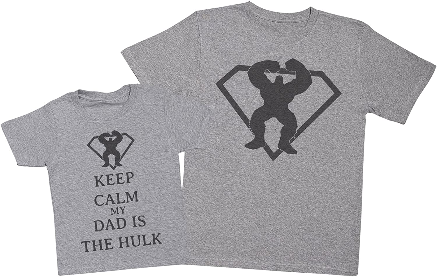 Keep Calm My Dad Is The Hulk Matching Father Kids Gift Set Mens T Shirt /& Kid/'