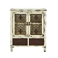 Deals on Powell Parcel White 2-Door 2-Drawer Console