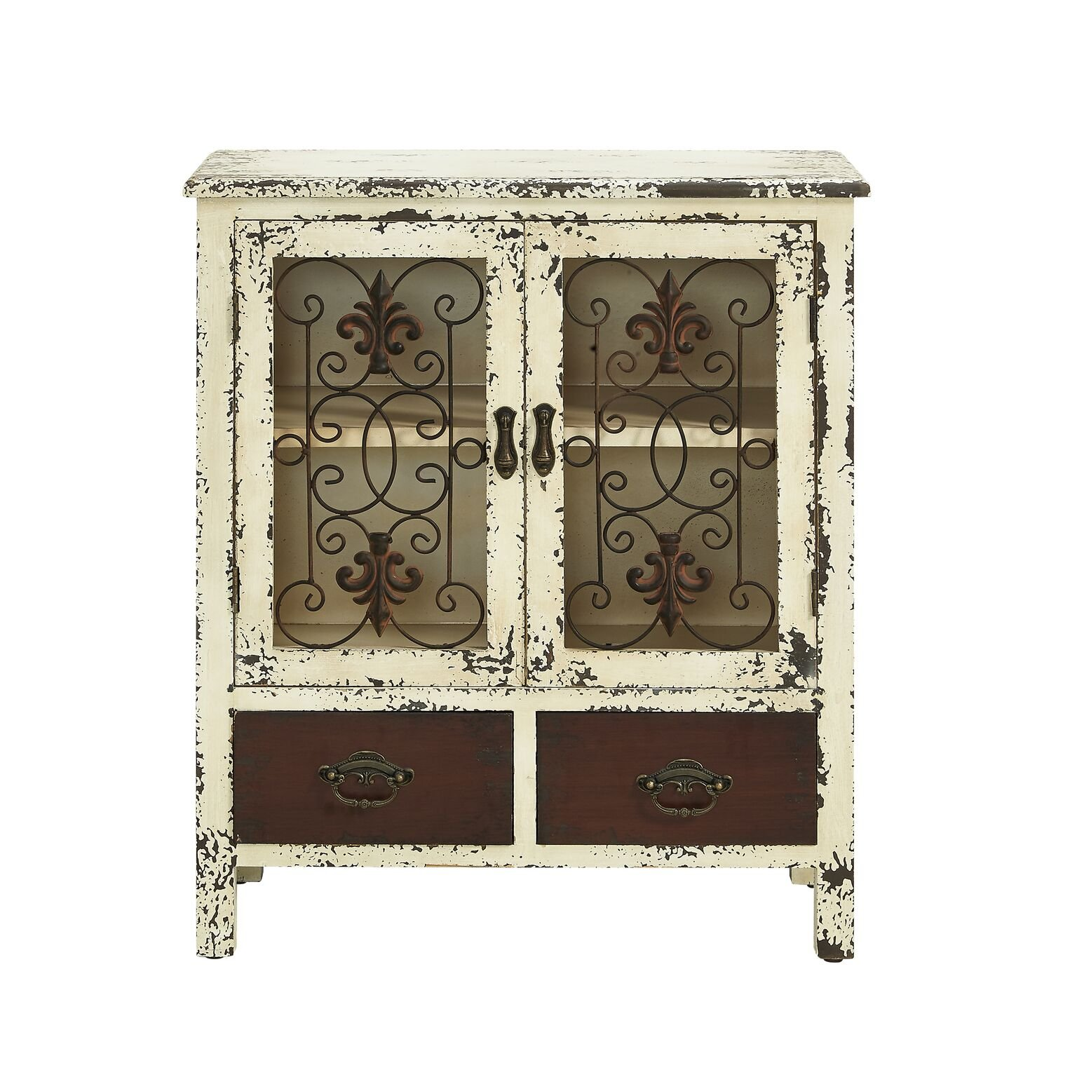 Powell Furniture 990-332 Parcel 2-Door 2-Drawer Console White
