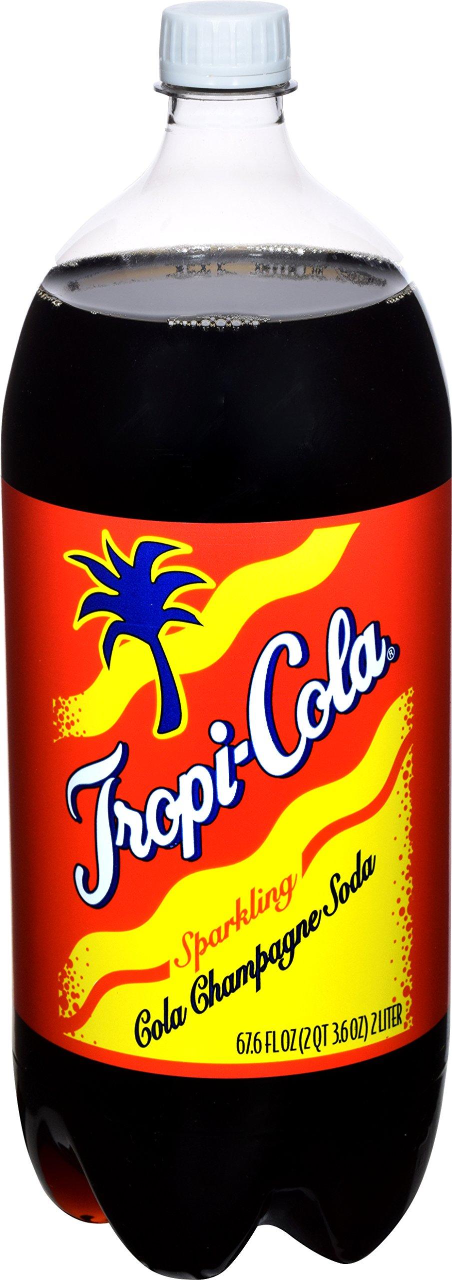 Goya Foods Tropi-Cola Sparkling Cola Champagne Soda, 2 Liter (Pack of 8) by Goya