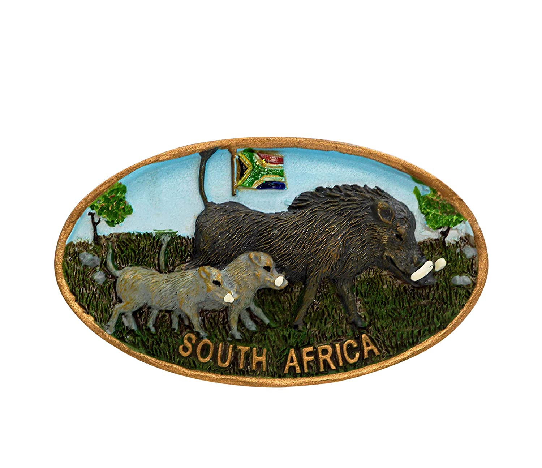 zamonji 3D Résine Aimant de Réfrigérateur Tourist Souvenir de Voyage - Afrique du Sud (Animaux Sauvages)