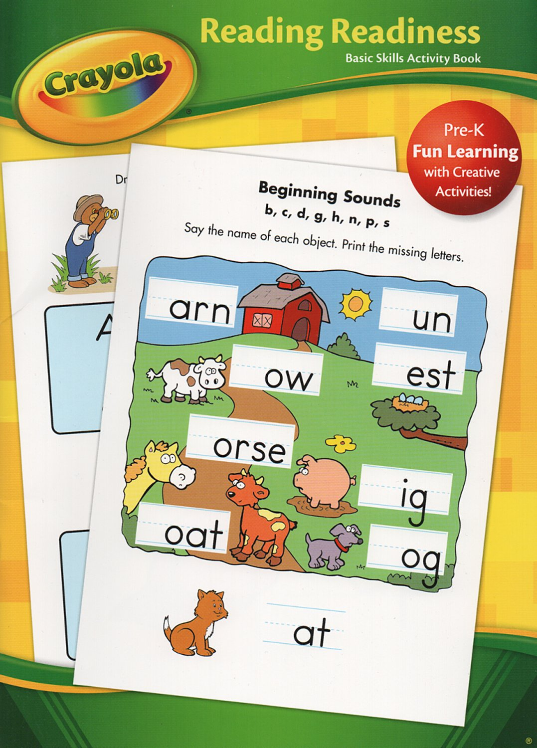 Crayola Basic Skills Activity Book Reading Readiness Pre-K ...