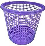Plastic Waste Paper Basket Bin Kitchen Office Bathroom in Purple