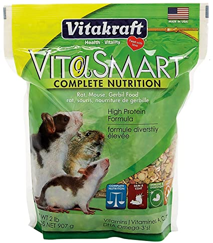 Vitakraft Vita Smart Rat Mouse Gerbil Food, Complete Nutrition for Small  Pets