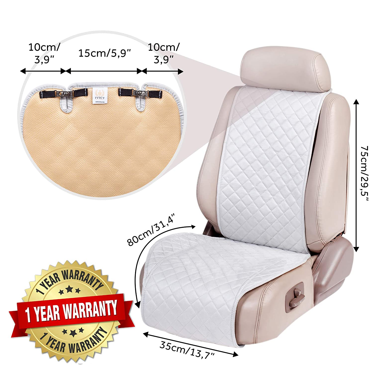 SUV Fits Most Cars IVICY Car Seat Cover Protector Cushion Girls Men 1-pc Truck Boys Car Seat Cushion Premium Covers for Women Car Seat Protector or Van