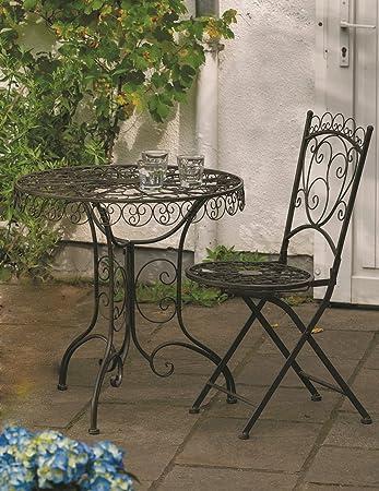 Amazon.de: Tisch + 2 Stühle *Venice* Sitzgruppe Garnitur Gartenmöbel ...