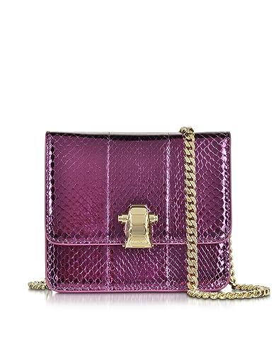 b1b8f60f41 Roberto Cavalli Designer Handbags Flap Mini Orchid Metallic Ayers Leather  Shoulder Bag  Amazon.co.uk  Shoes   Bags