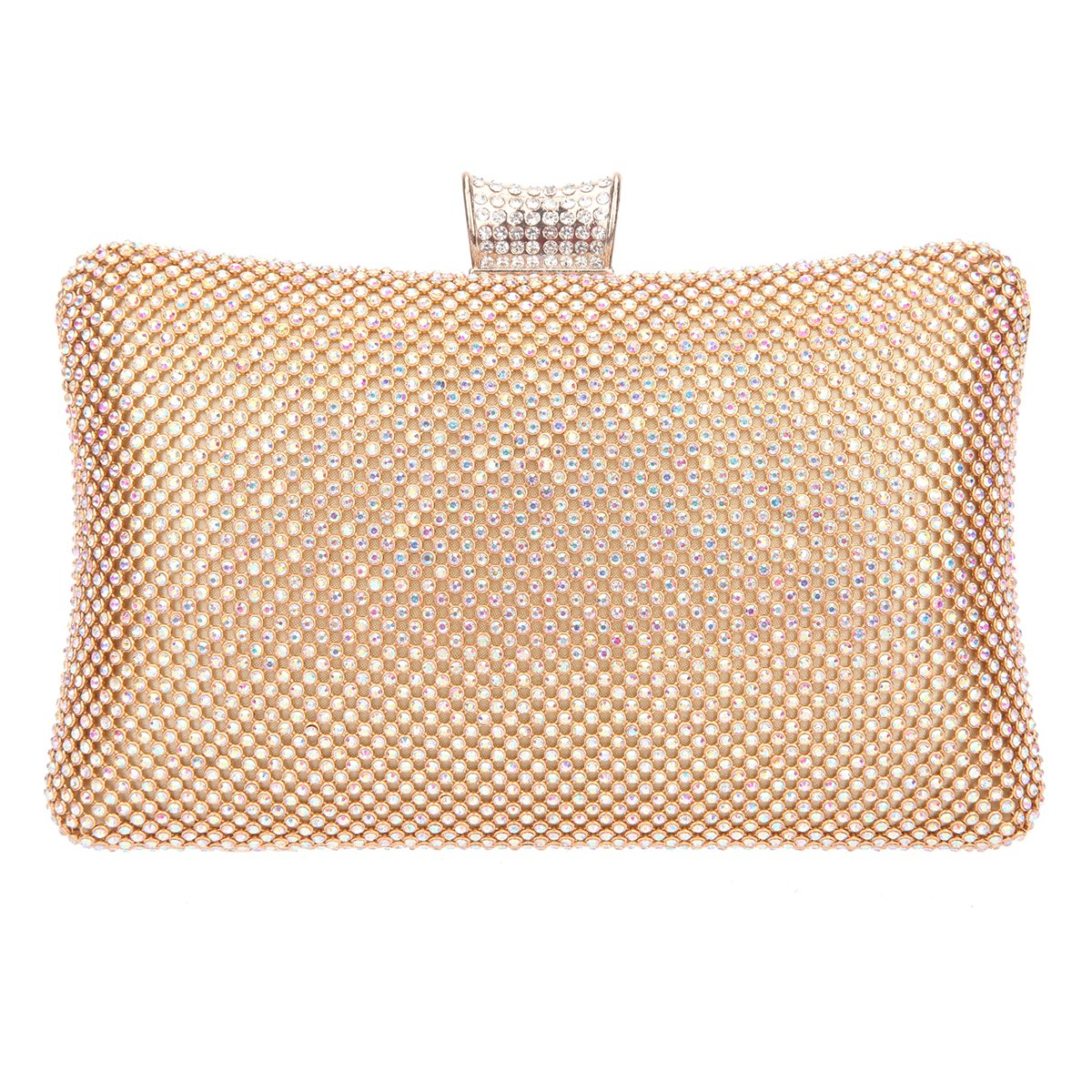 ed945a7e93ee Amazon.com  Fawziya Big Evening Bags For Women Rhinestone Crystal Clutch Bag-AB  Gold  Shoes
