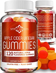 Apple Cider Vinegar Gummies (120 ct) - Gummy Alternative to ACV Pills, Capsules, and Tablets - Organic, Raw, and Unfiltered with Mother Supplement for Detox and Cleansing Support - Non GMO