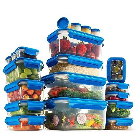 Juego de 40 recipientes herméticos de almacenamiento de alimentos ...