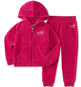 5bacd8c2b Juicy Couture New Genuine Girls Pink Velour Tracksuit (2 Piece Set) (5  Years): Amazon.co.uk: Clothing