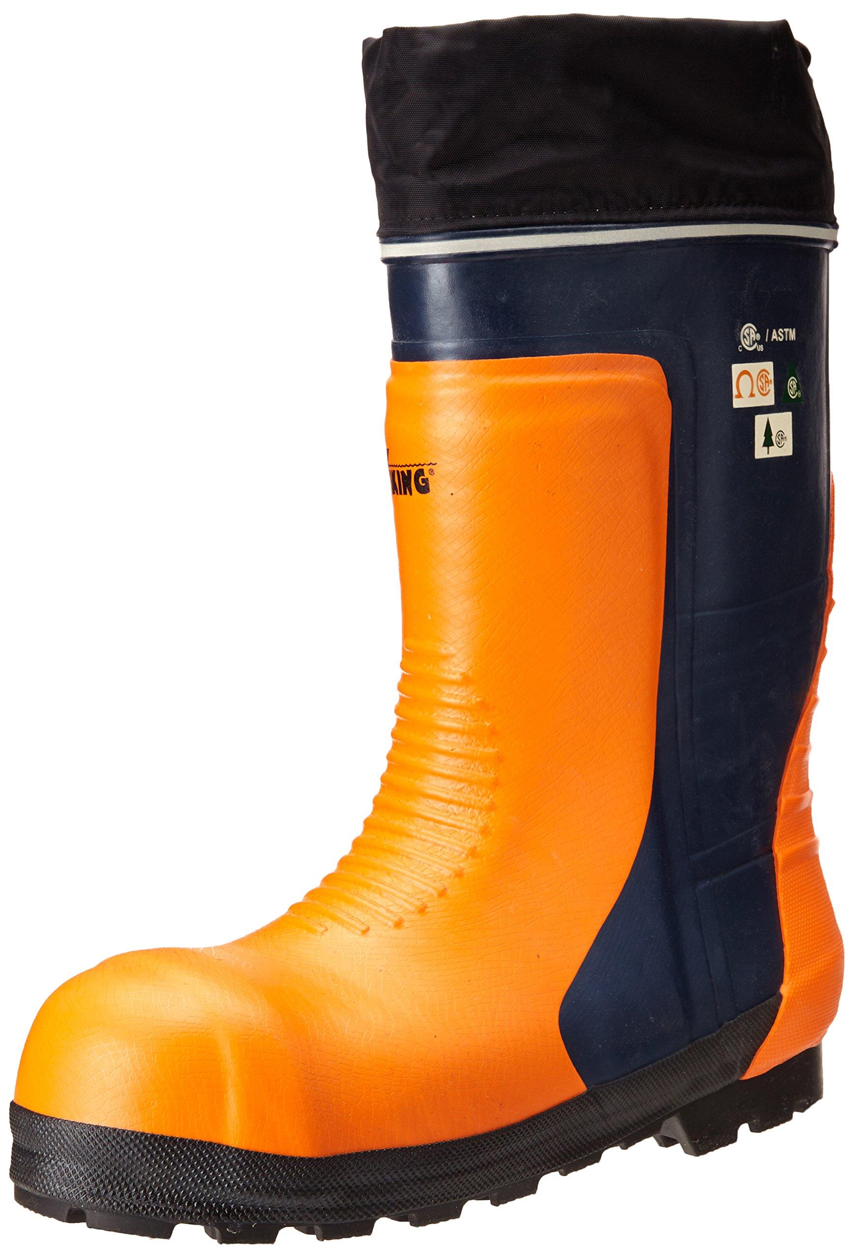 Viking Footwear Bushwhacker Waterproof Steel Toe Winter Boot, Black/Orange, 12 M US