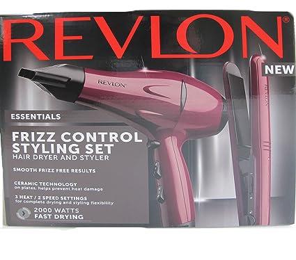 Revlon Frizz 210 Grado 2000 vatios Control Secador de pelo y perfilador de cerámica Set