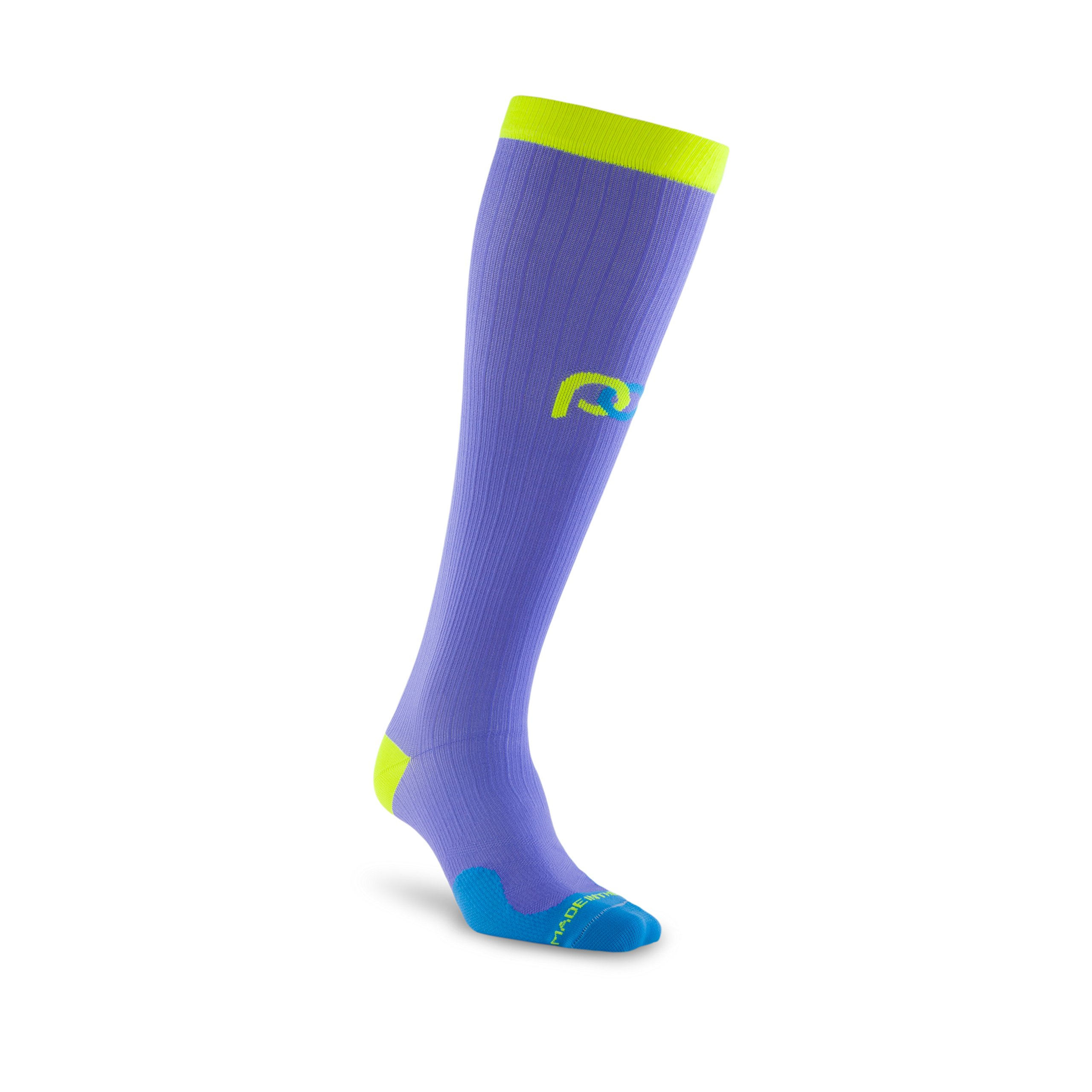 PRO Compression: Marathon (Full-Length, Over-the-Calf) Compression Socks, Lavender, Large/X-Large by PRO Compression