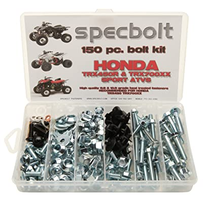 150pc Specbolt Honda TRX450R TRX450ER & TRX700XX Bolt Kit for Maintenance & Restoration OEM Spec Fasteners Quad: Home Improvement