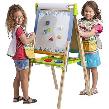 Amazon Com Kidkraft Deluxe Wood Easel White Toys Amp Games