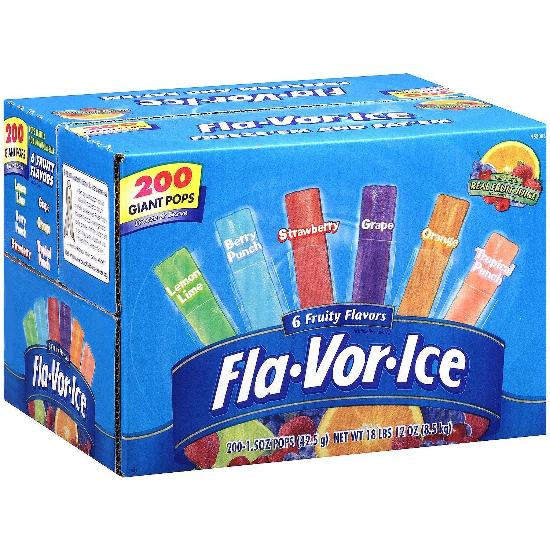 Fla-Vor-Ice Plus Giant Pops 1.5 oz. 200 ct. (pack of 2) A1