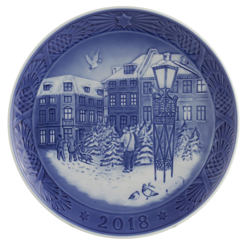 Royal Copenhagen 1024792 Xmas Plate Series RC WEIHNACHTSTELLER 2018, Porzellan, Mehrfarbig