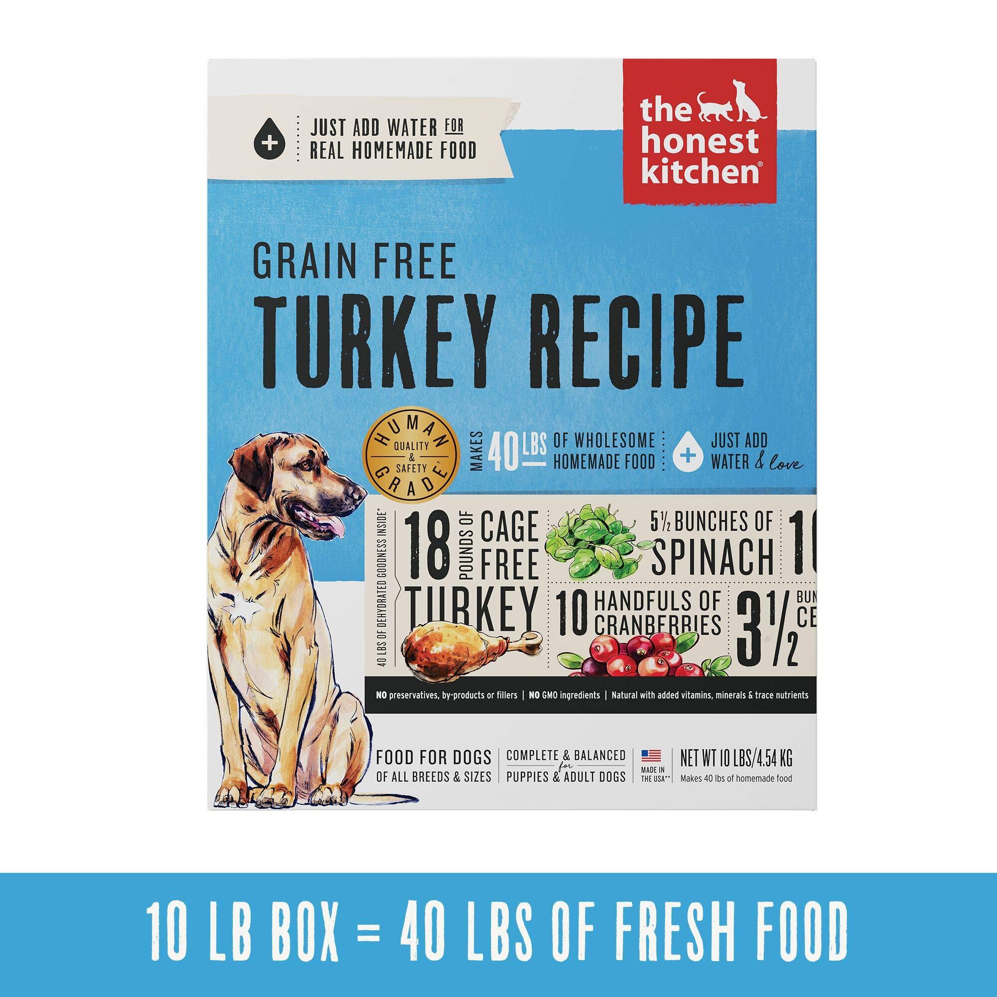 Honest Kitchen Human Grade Dehydrated Grain Free Turkey Dog Food 10 lb Box - Embark by Honest Kitchen
