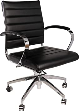 Amazon Com Eames Style Executive Leather Office Chair Black Furniture Decor