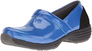 Sanita Women's O2 Life-Ease Slip-On Loafer, Blue Patent, 38 EU/7/7.5 M US