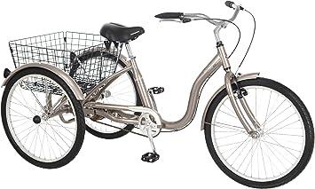 Schwinn Meridian - Bicicleta de 3 Ruedas para Adulto de 26 Pulgadas, S4002A, Plateado Oscuro: Amazon.es: Deportes y aire libre