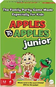 Apples to Apples Junior, The Game of Crazy Comparisons, Board Game with 504 Cards, Family Party Game Especially for Kids, Gift for Kid, Teen & Family Game Night Ages 9 Years & Older