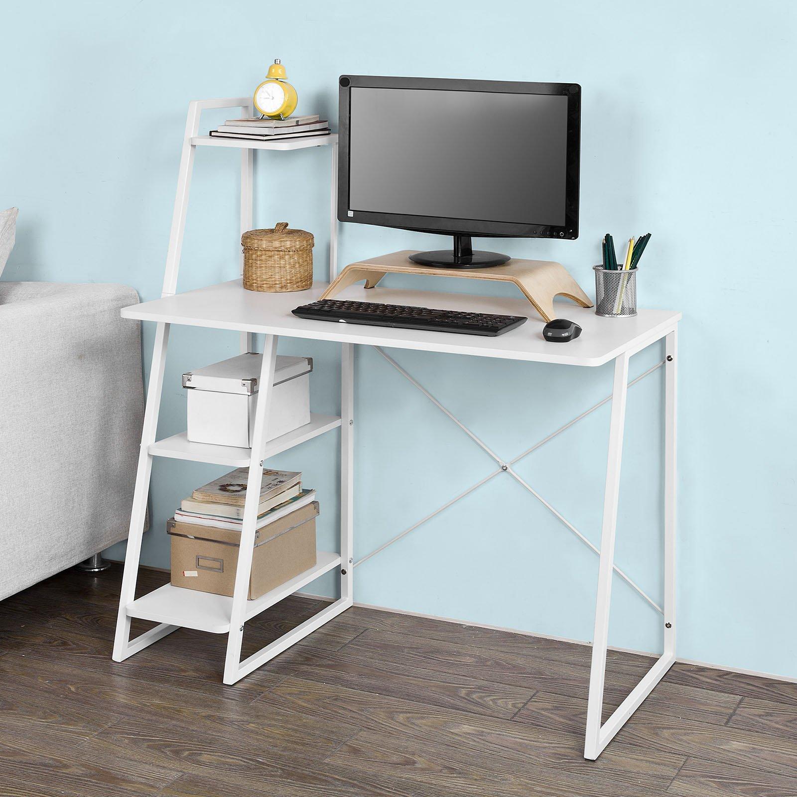 petit bureau blanc. Black Bedroom Furniture Sets. Home Design Ideas