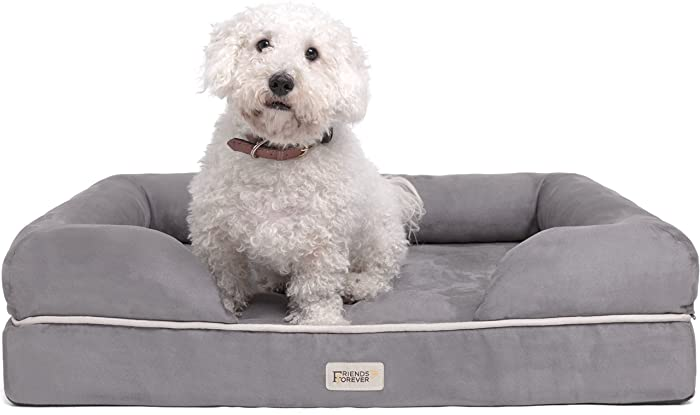 Friends Forever Premium Bolster Orthopedic Dog Bed - Best for a Small Dog​