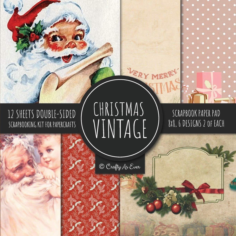 2020 Christmas Paper Crafts Amazon.com: Vintage Christmas Scrapbook Paper Pad 8x8 Scrapbooking