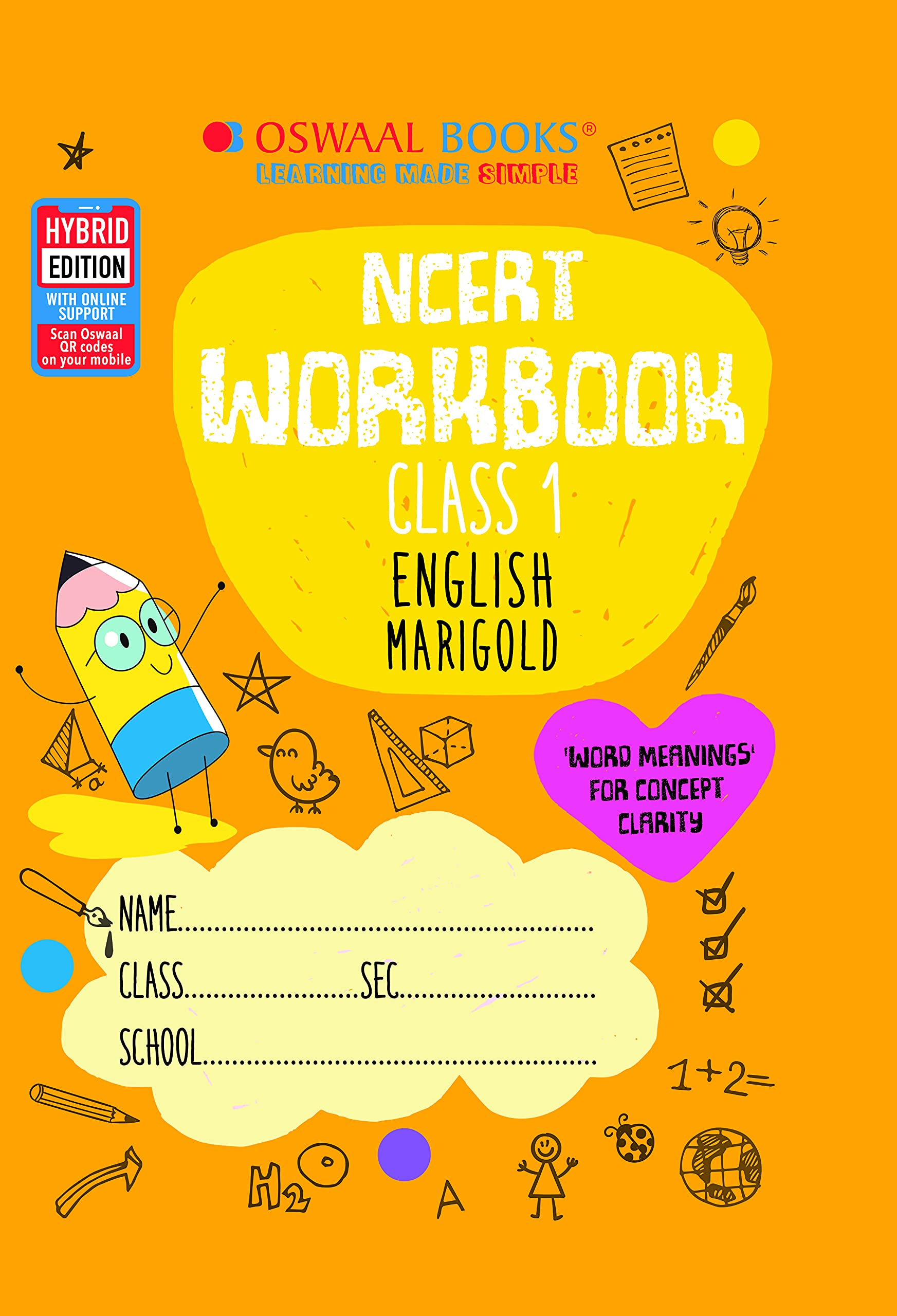 Oswaal NCERT Workbook Class 1, English (For 2022 Exam)