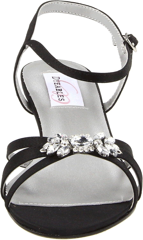 0a70f6e2a8 Amazon.com | Dyeables Women's Penelope Ankle-Strap Sandal | Heeled Sandals