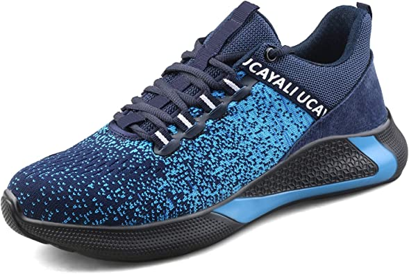 UCAYALI Mens Safety Work Shoes Steel Toe Cap Trainers Puncture Proof Lightweight Breathable Sneakers